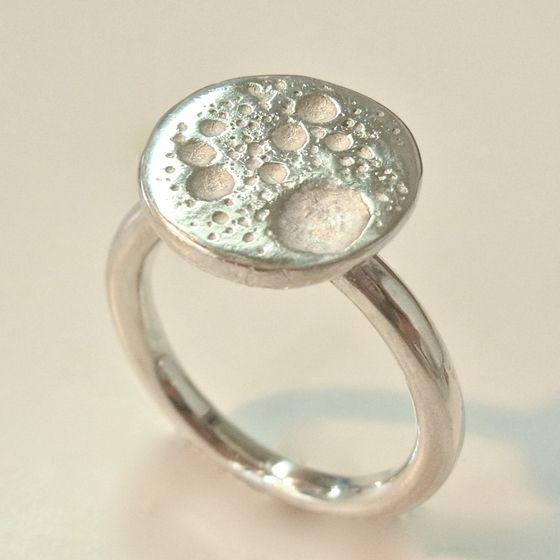 Sterling Silver molten silver ring by ntm. jewellery