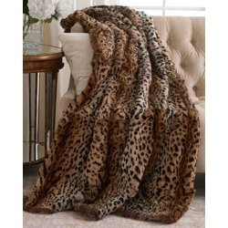 faux leopard throw blanket