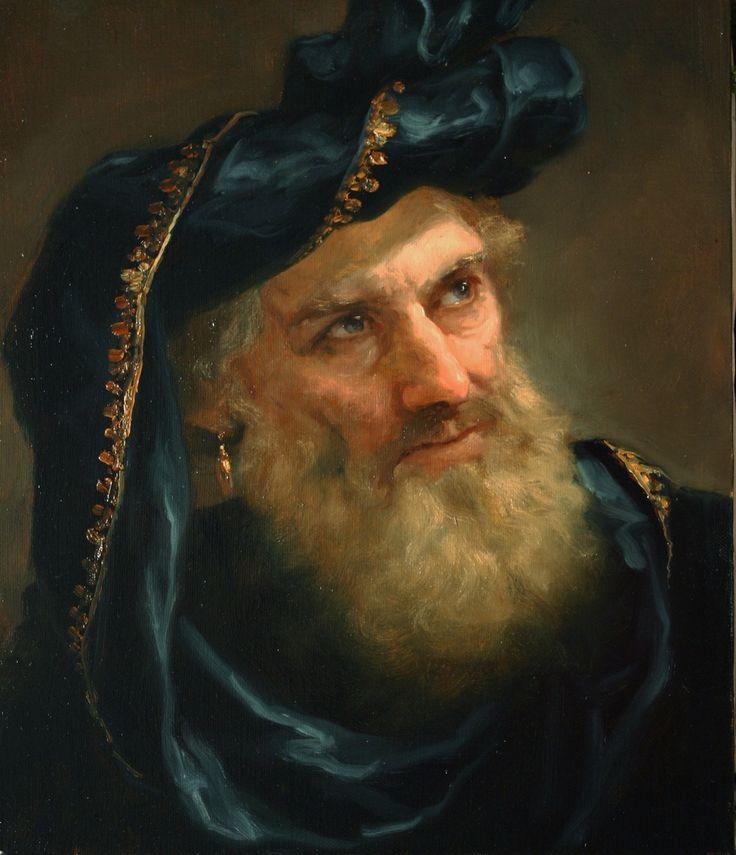 Shishkin Andrei - old man in black (старик в черном)