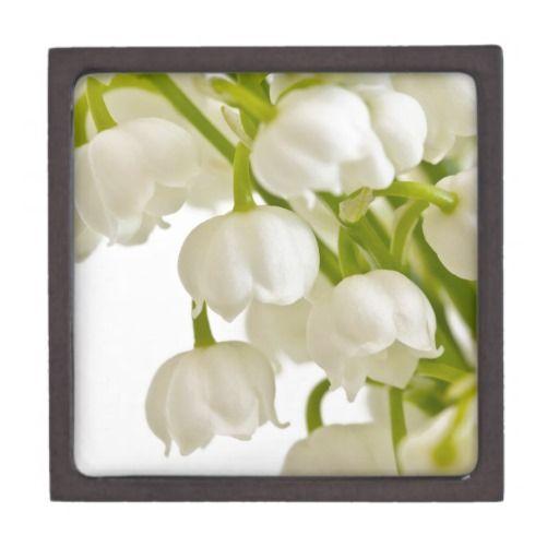 White Lilies Premium Trinket Box