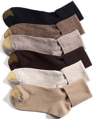 Gold Toe Socks, Turn Cuff 6 Pack - Handbags & Accessories - Macy's
