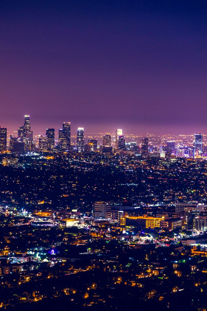 Los Angeles At Night Art Print By North Sky Photography X Small In 2020 Los Angeles At Night Los Angeles Wallpaper City Skyline Night