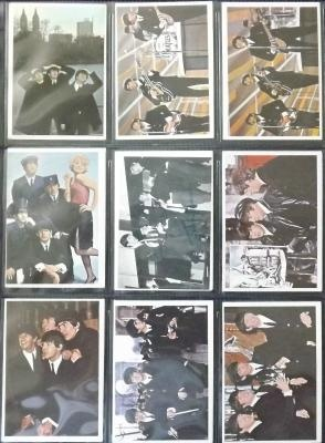 1 Lot of 9 Beatles Trading Cards ca 1964 '65 Color John Paul George Ringo FREE SHIPPING