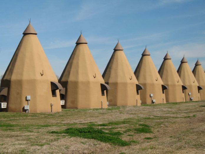 Wharton, Texas Stay at the TeePee Motel & RV Park The Tee Pee Motel is one of only a handful of tepee-themed lodges still operating in the country. Photo: Kristin Finan / Houston Chronicle