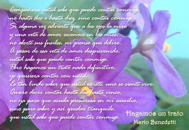 Poema de Mario #Benedetti, Hagamos un trato