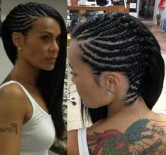 Protective style | Gorgeous 'do. Model has a lot of hair! even past the nape.