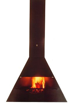 Spanish design, fireplace A-14 by Miguel Milá (1977)
