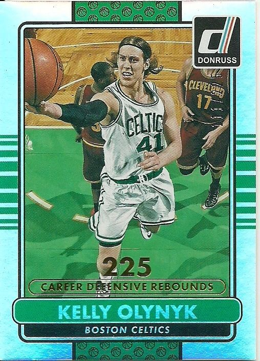2014-15 DONRUSS STAT LINE #194 KELLY OLYNYK 111/225 CELTICS FREE SHIPPING #BostonCeltics