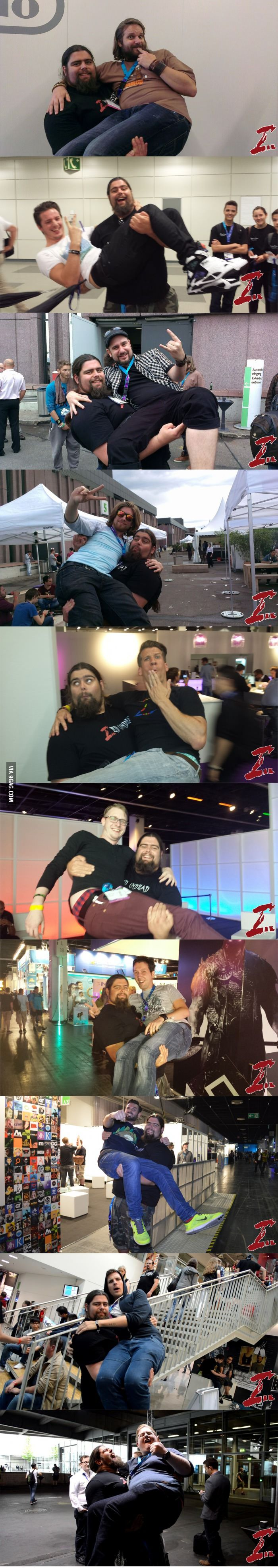 This Guy carried all German Webstars he found on the Gamescom 2014 in Cologne