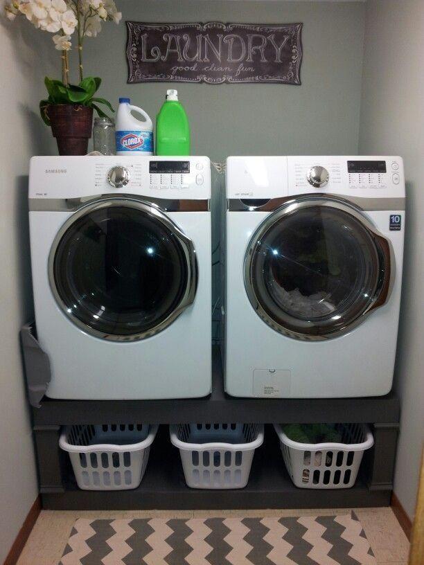 Farmhouse Washer Dryer Pedestals Bases Laundry Room Ana White