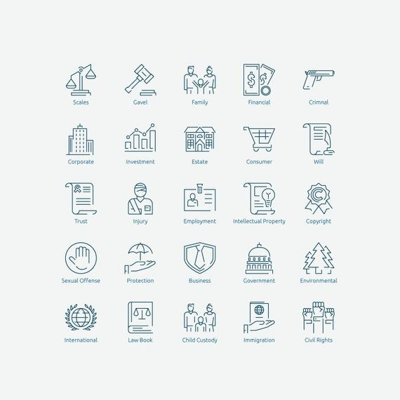Law Icons In Vector And Png Etsy Law Icon Icon Law
