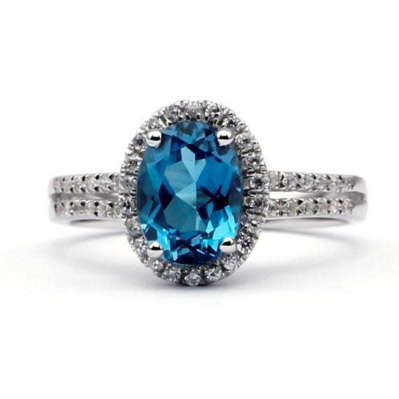 @Heather Creswell Stephens  2 ct Swiss Blue Topaz Ring Christmas Layaway by KimberlysTreasure, $240.00