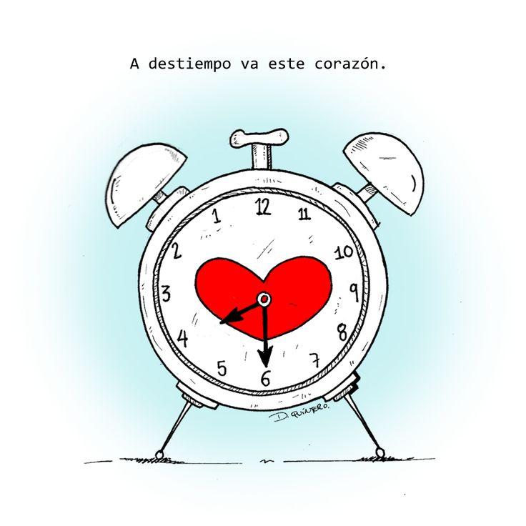 El amor a (des)tiempo  #amor #amores #frases #frase #frases de amor #frasesdeamor #ilustrador #ilustraciones #ilustracion #ilustraciones #love #artistas #artist #artista