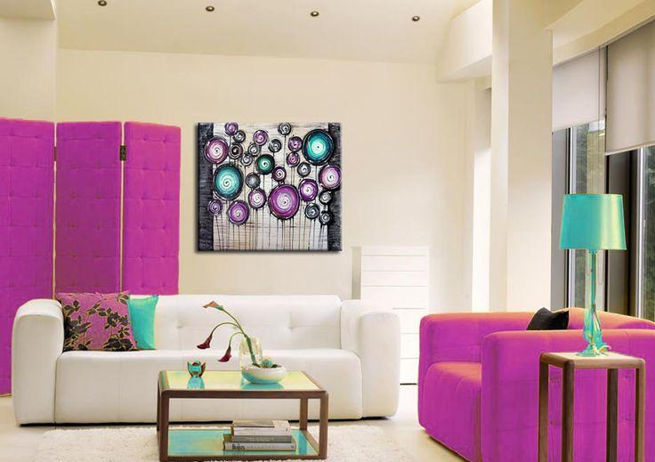 Hangulatos otthonok modern kiegészítőkkel. Festett vászonképek életre keltik otthonod falait, modern fiatalos hangulattal árasztják el a szobád.