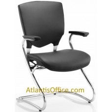 Alpha Leather Cantileverchair Cantilever Chair Fixed Arms Chrome Frame Ideal In