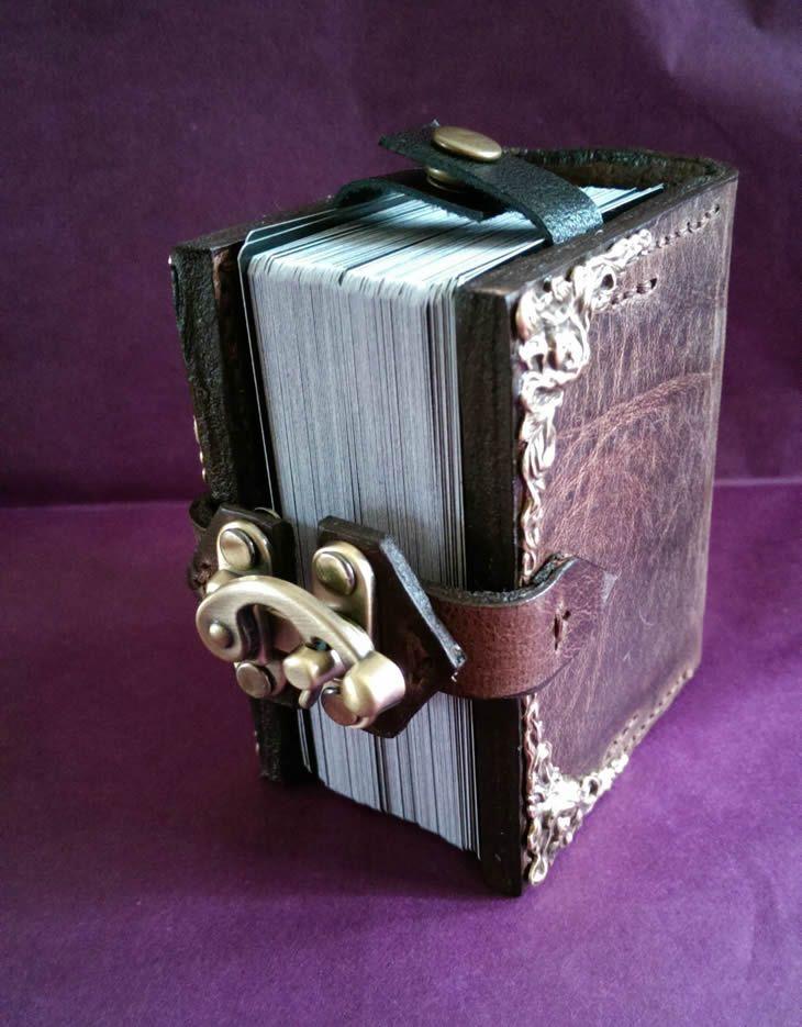 Magic Grimoire Spellbook Leather Deck Box 4