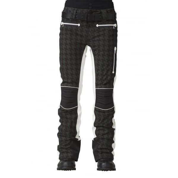 SOS X Biker Womens Ski Pant in Deep Forest Check