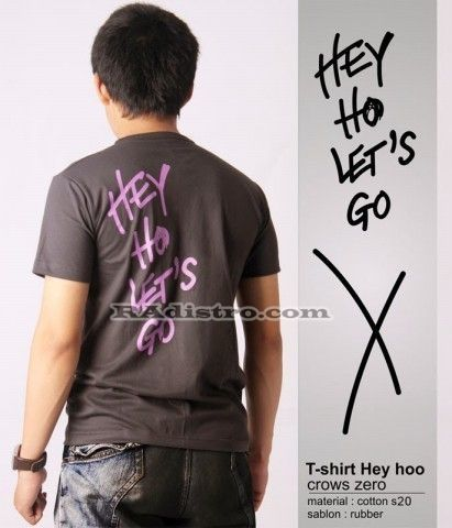 jual kaos crows zero online murah HEYHO LETS GO model