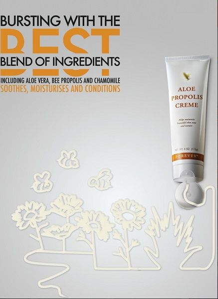 Propolis Cream is good for ezema, psoriasis and great for moisturising hard skin on your feet!