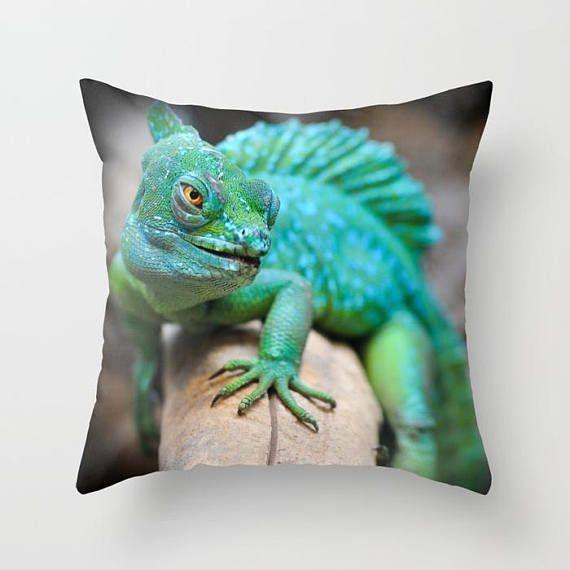 Reptile Pillow Cover Reptilia Throw Pillow Animal Throw