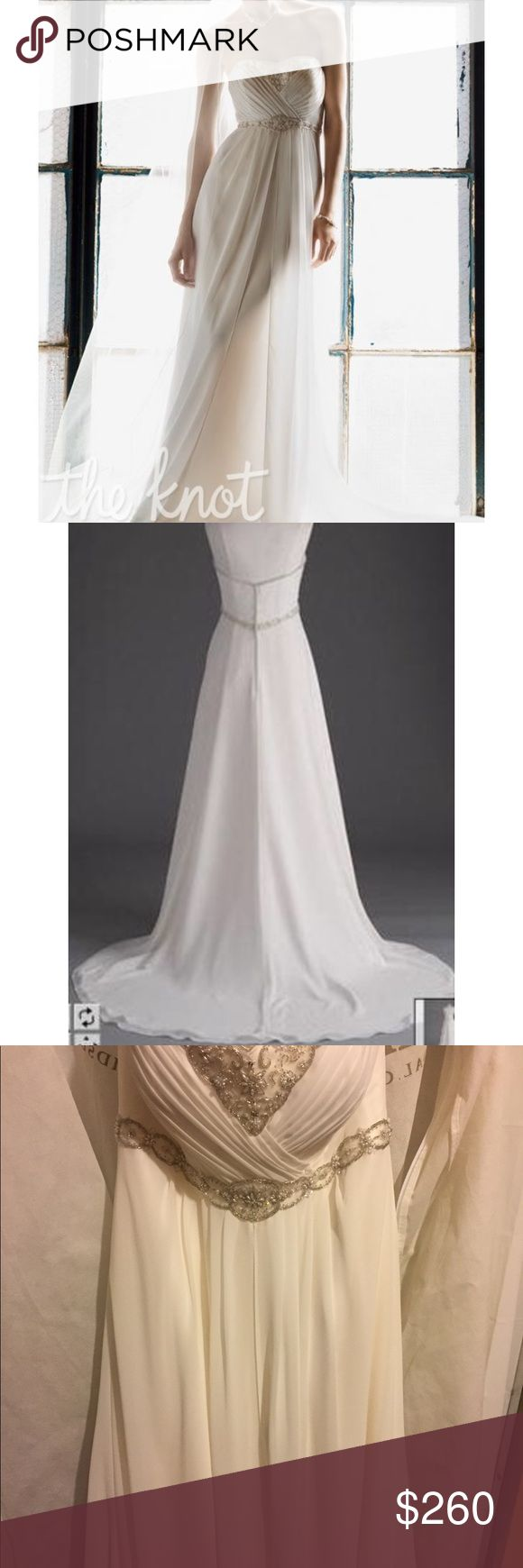 Galina Signature wedding gown Worn once. Missing a small amount of beading. Not noticeable. Dresses Wedding