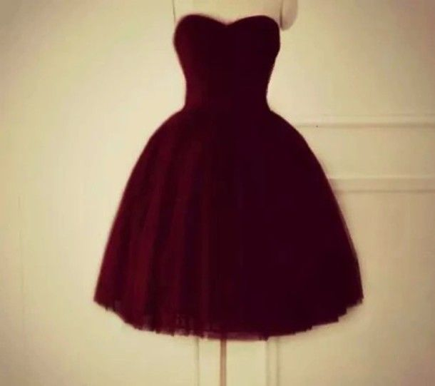 Lovely Maroon Tulle Sweetheart Homecoming Dresses, Maroon Short Prom Dresses, Sweet 16 Dresses