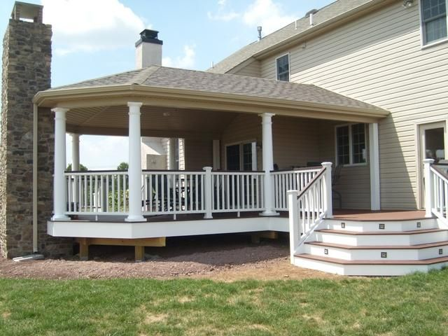 16 best images about covered deck ideas on pinterest for Covered back porch designs