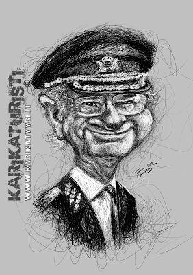 Karikaturisti: Carl Gustaf Folke Hubertus, king of Sweden, Ruotsi...