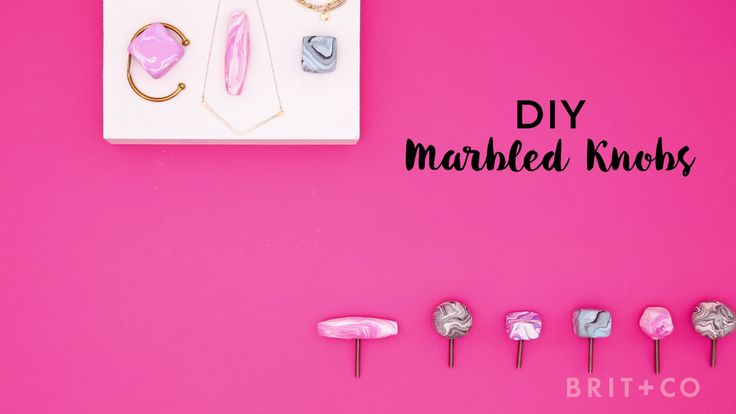 This is the home decor DIY you've been waiting for. Watch this video tutorial to learn how to make a set of marbled knobs.