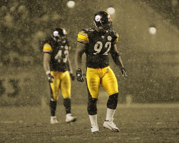 James Harrison, Troy Polamalu Picture at Pittsburgh Steelers Photo Store