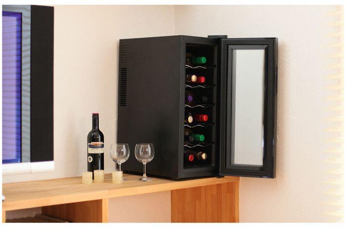 自宅用におすすめの12本用ワインセラー5選!ワイン好き必見!-カウモ ハーフミラー ワインクーラー 11,800円