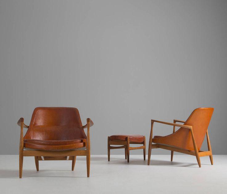 New Pair of Model U Elisabeth Chairs by Ib Kofod Larsen