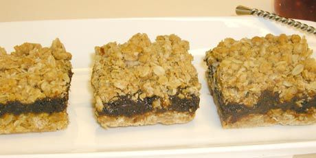 Date Squares - miss my grandma when I think of them. Will have to try this recipe from Anna Olson of Food Network Canada
