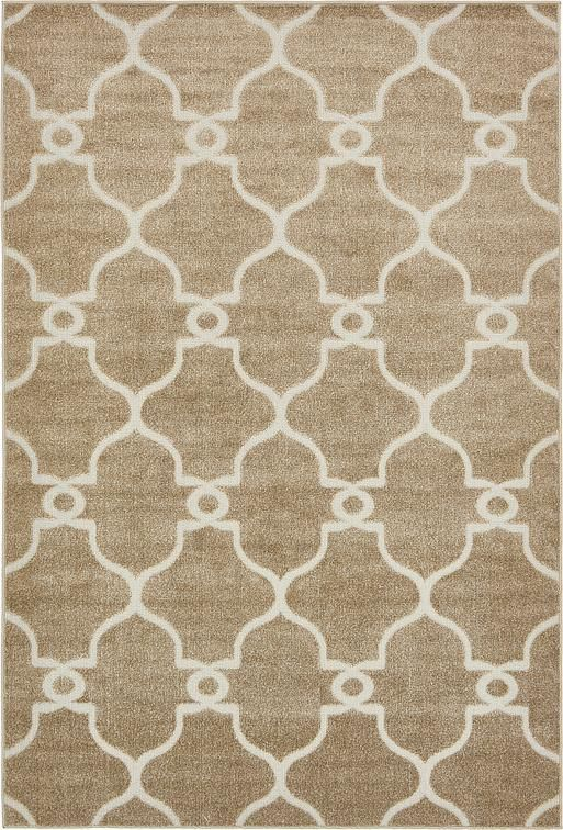 Light Brown Transitional Area Rug