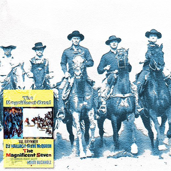 """This man needs to be buried. And soon. He's not turning into any nosegay. ""  The Magnificent Seven (1960) Director: John Sturges, Writer: William Roberts (screenplay) Stars: Yul Brynner, Steve McQueen, Charles Bronson, Eli Wallach, Robert Vaughn, Brad Dexter, James Coburn , Jorge Martínez de Hoyos, Vladimir Sokoloff, Rosenda Monteros, Rico Alaniz, Pepe Hern, Natividad Vacío , Mario Navarro, Danny Bravo."