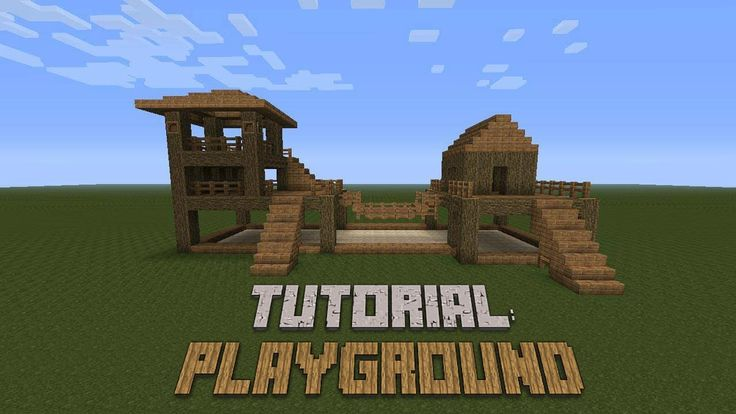 Minecraft - How to build a Playground - Tutorial