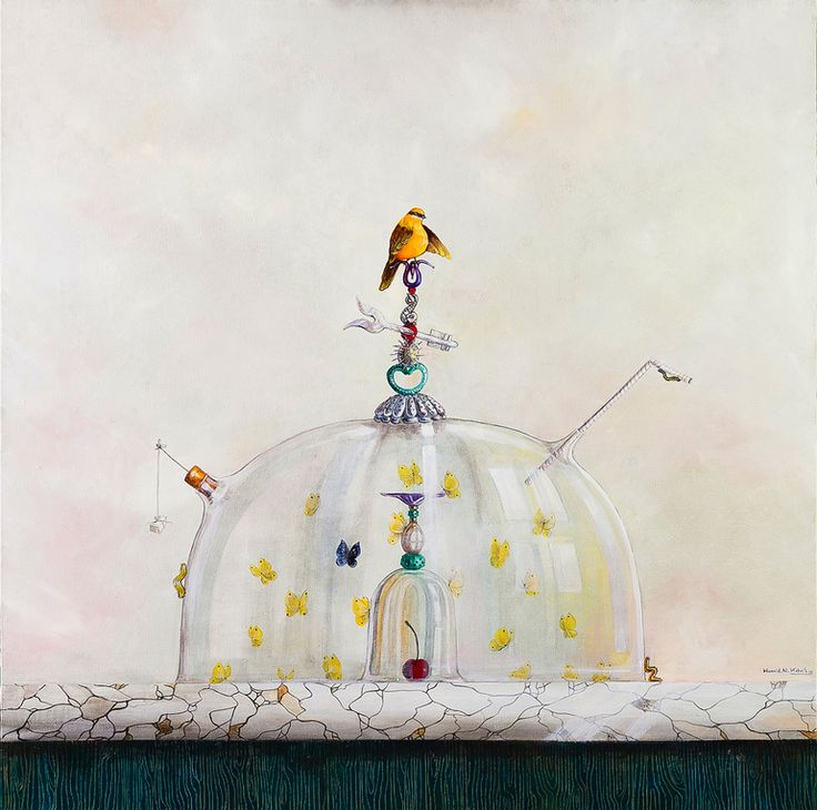 MY SECRET oil on canvas by Hamid Nicola Katrib