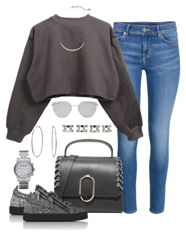 Untitled #1087 by lanizzleeee on Polyvore featuring Giuseppe Zanotti, 3.1 Phillip Lim, Michael Kors, Maison Margiela, Bling Jewelry, Karen Kane and Gentle Monster