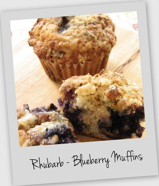 Rhubarb Blueberry Muffins: Baking Powder, Desserts, Chutneys Blueberrymuffin, Rhubarb Blueberries Muffins, Frozen Blueberries, Coconut Oil, Muffins Recipes, Breads Muffins Etc, 1 3 Cups