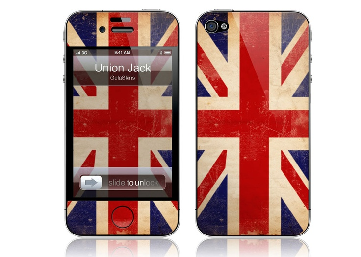 iPhone 4/4S - Union Jack by GelaSkins === Need this!