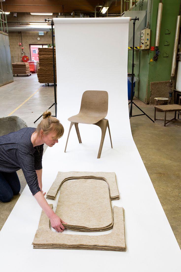 christien meindertsma flax chair dutch design week 2016 designboom