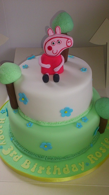 Pepper Pig Cake by LizzieQ Creations, via Flickr