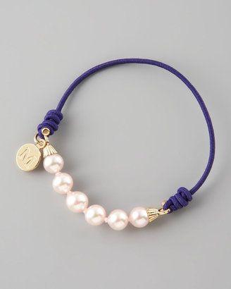 Majorica Elastic Pearl Bracelet, Purple
