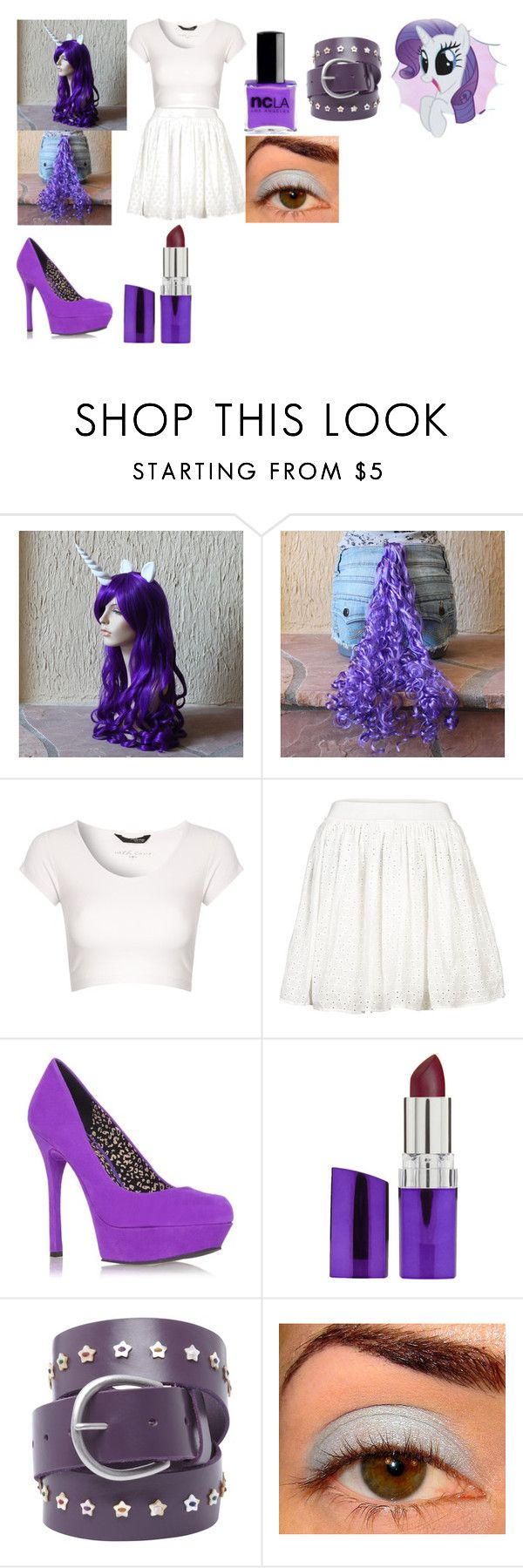 """my little pony rarity Halloween Costume"" by rockprincess-i ❤ liked on Polyvore featuring My Little Pony, Jane Norman, VILA, Jessica Simpson, Rimmel, White Stuff, women's clothing, women's fashion, women and female"