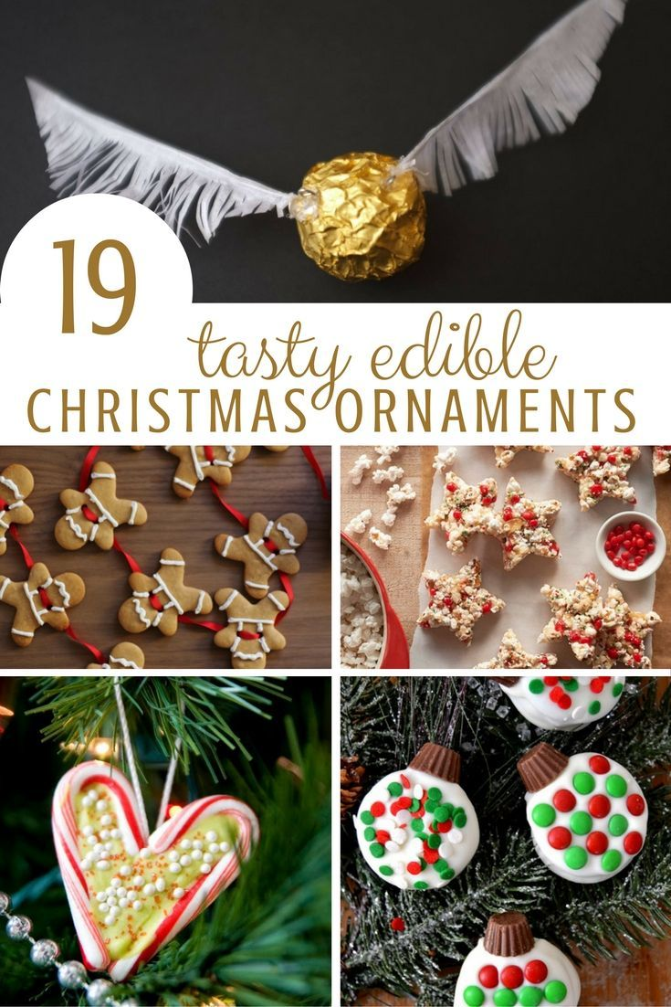 Edible Christmas Ornaments - combing our favourite things about Christmas - DIY Christmas Ornaments and wonderful Christmas recipe ideas. The kids will love making edible ornaments with you!