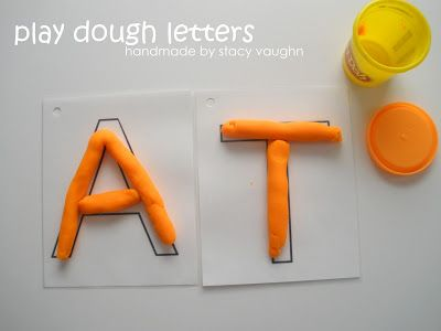 handmade by stacy vaughn: play dough letters