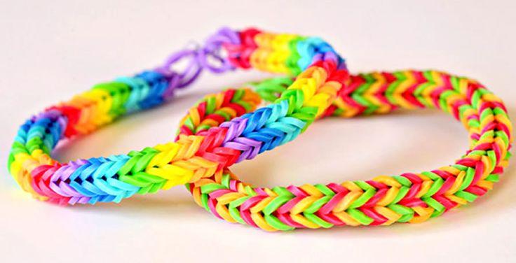 Rainbow Loom - armband