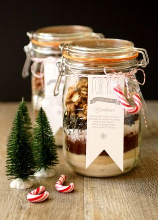 Kit brownie cadeau gourmand noel http://radisrose.fr/idees-cadeaux-gourmands-faits-maison/ #recette #cadeau #gourmand #noel
