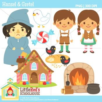 Clip Art - Hansel and Gretel - Fairy Tale Clipart $