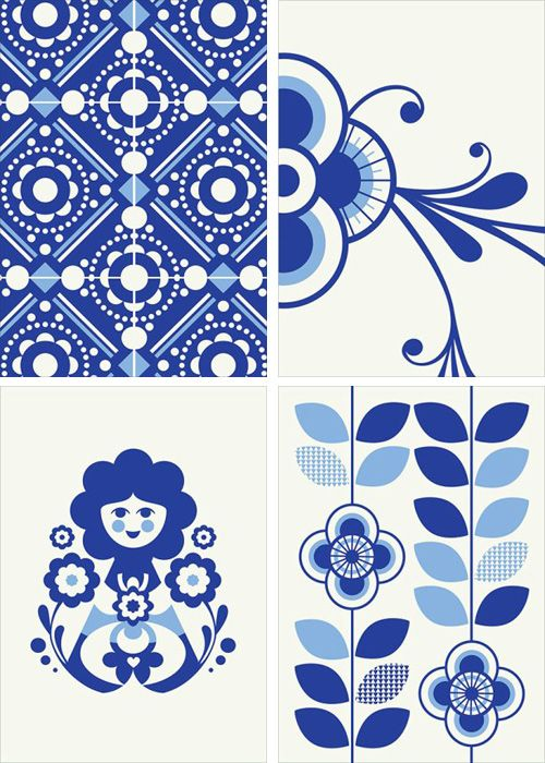 blue and white for napkins